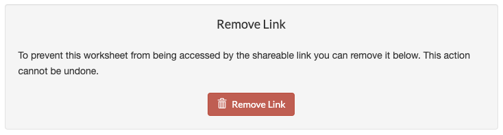 Delete shareable link