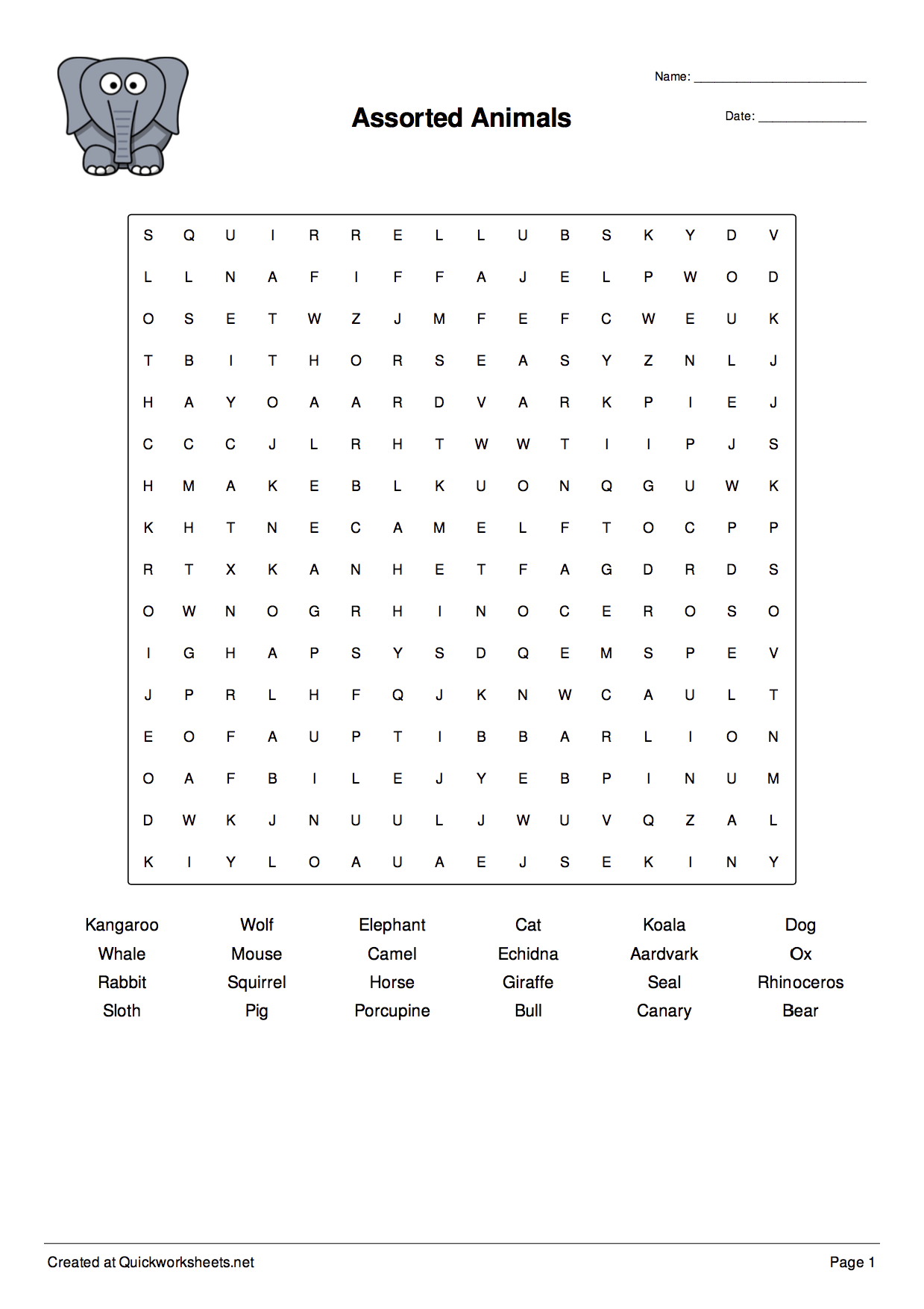 Free Word Scramble Wordsearch Worksheet Generators