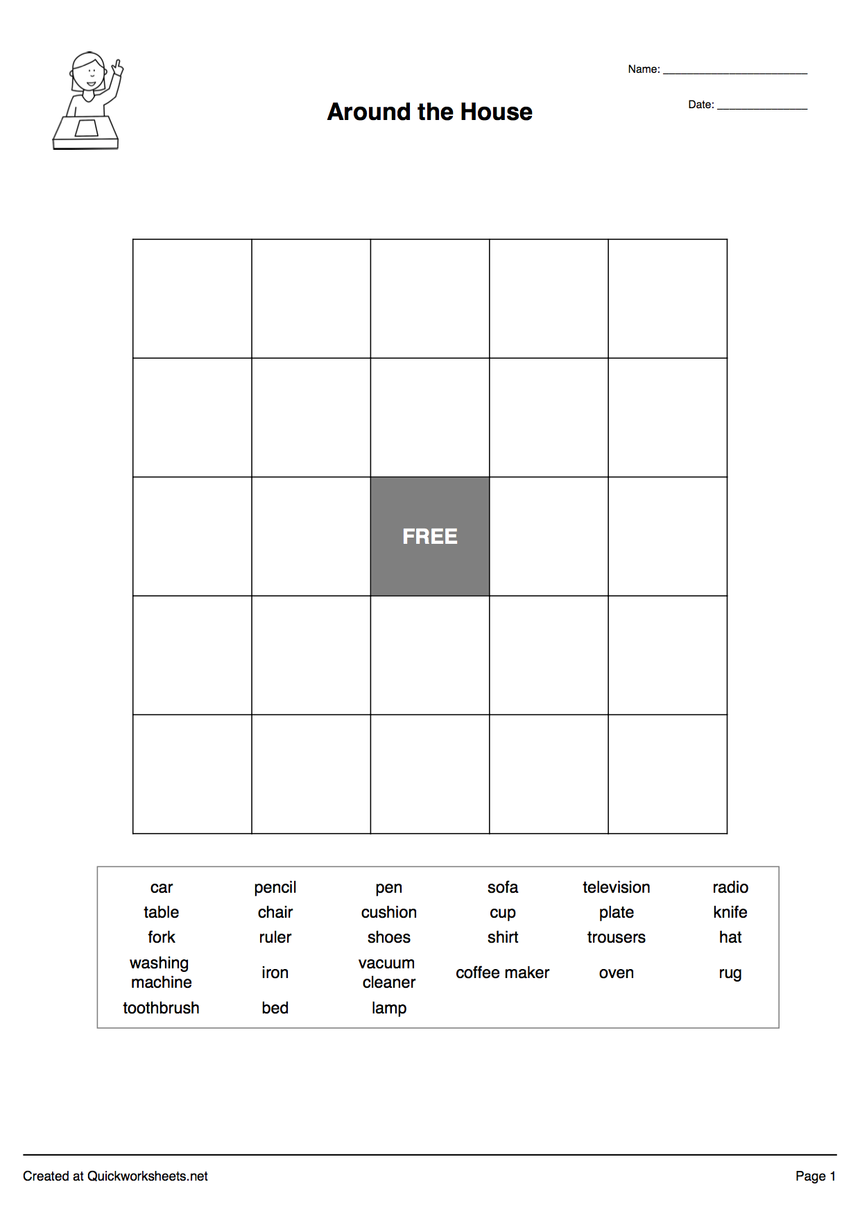 Word Worksheet Generator : Word scramble wordsearch crossword matching pairs and