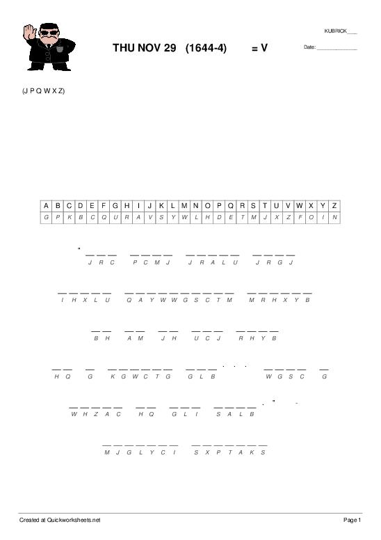 THU NOV 29   (1644-4)        = V - Worksheet Thumbnail