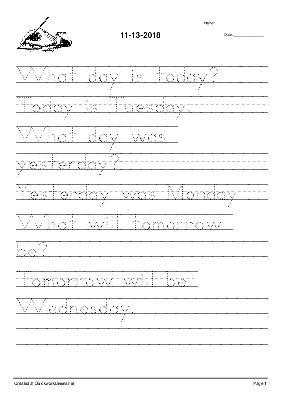 11-13-2018 - Worksheet Thumbnail