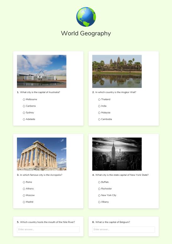 e-Worksheet example