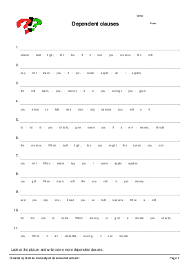 Shared Sentence Scramble Worksheets